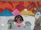 壁飾り(11月・夕焼け地蔵)